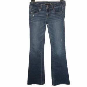 A.E.O Artist Double Button Bootcut Stretch Jeans 4